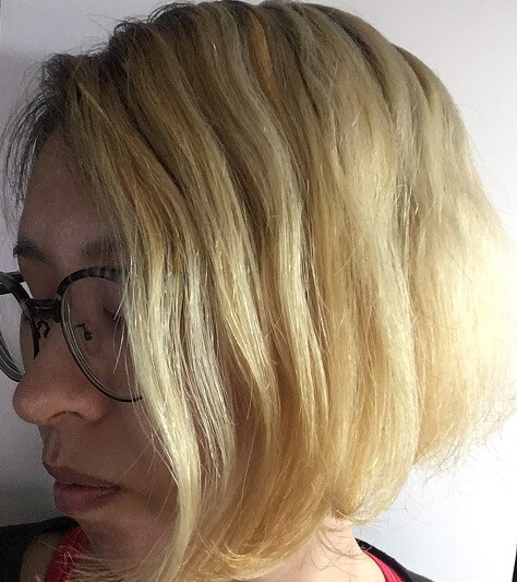 ブリーチ後の金髪にムラシャンを2回した