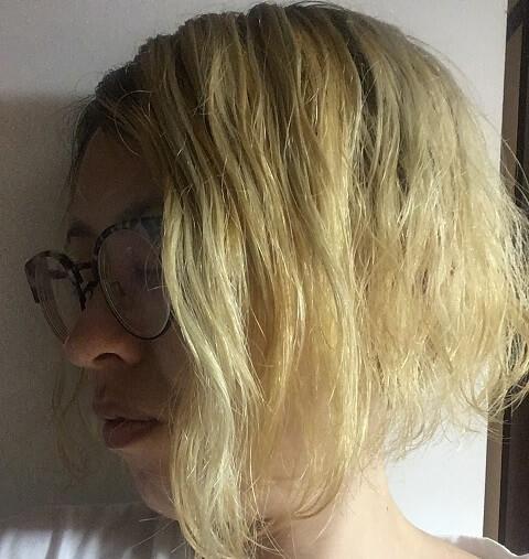ブリーチ後の金髪にムラシャンを3回した