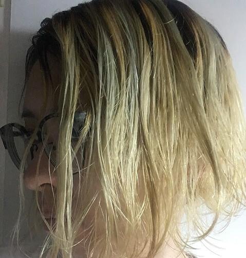 ブリーチ後の金髪にムラシャンを4回した
